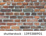 old obsolete red brick wall... | Shutterstock . vector #1395388901