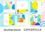 abstract card collection.... | Shutterstock .eps vector #1395395114