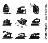 smoothing iron icons set.... | Shutterstock . vector #1395401987