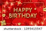 vector happy birthday... | Shutterstock .eps vector #1395415547