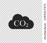 co2 emissions in cloud icon... | Shutterstock . vector #1395417371