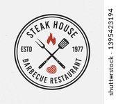 steak house  barbecue logo.... | Shutterstock .eps vector #1395423194