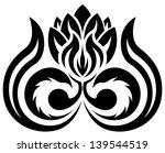 black floral pattern  silhouette | Shutterstock .eps vector #139544519