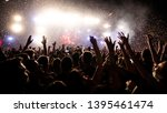 crowd of people having fun... | Shutterstock . vector #1395461474