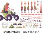 hiking man creation set  male... | Shutterstock .eps vector #1395464114