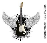 guitar with wings   grunge... | Shutterstock . vector #139547885