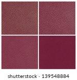 Set Of Purple Animal Leather