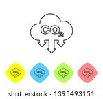 grey co2 emissions in cloud... | Shutterstock .eps vector #1395493151
