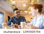 happy guy in eyeglasses and... | Shutterstock . vector #1395505754