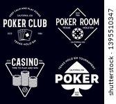 poker related labels emblems... | Shutterstock .eps vector #1395510347