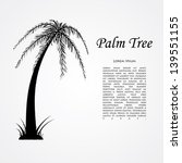 silhouette of the palm tree.... | Shutterstock .eps vector #139551155