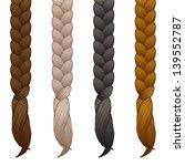 braids isolated on white... | Shutterstock .eps vector #139552787