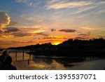 twilight sky background with... | Shutterstock . vector #1395537071