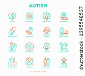 autism symptoms and adaptive... | Shutterstock .eps vector #1395548537