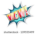 wow colored comic book... | Shutterstock .eps vector #139555499