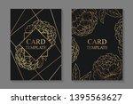 floral wedding invitation... | Shutterstock .eps vector #1395563627