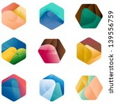 Design hexagonal vector logo template.  Colorful app icon set.  Colorful pattern. | Shutterstock vector #139556759