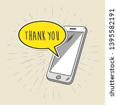 freehand drawn smartphone with...   Shutterstock .eps vector #1395582191