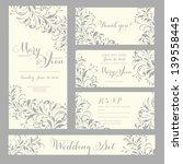 wedding invitation  thank you... | Shutterstock .eps vector #139558445