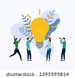 search for new ideas  meeting... | Shutterstock .eps vector #1395595814
