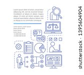 headhunting article page vector ... | Shutterstock .eps vector #1395604904