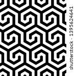 seamless geometric monochrome...   Shutterstock .eps vector #1395624641