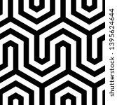 seamless geometric monochrome...   Shutterstock .eps vector #1395624644