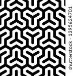 seamless geometric monochrome... | Shutterstock .eps vector #1395624701