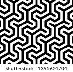 seamless geometric monochrome... | Shutterstock .eps vector #1395624704
