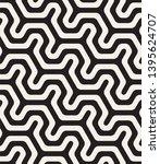 seamless geometric monochrome... | Shutterstock .eps vector #1395624707