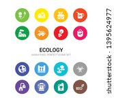 16 ecology vector icons set... | Shutterstock .eps vector #1395624977