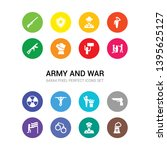 16 army and war vector icons...   Shutterstock .eps vector #1395625127