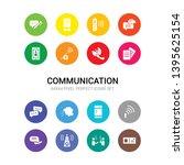 16 communication vector icons...   Shutterstock .eps vector #1395625154