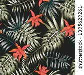 exotic composition from... | Shutterstock .eps vector #1395629261