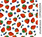 seamless texture of berries.... | Shutterstock .eps vector #1395632054
