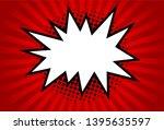 retro rays comic. yellow... | Shutterstock .eps vector #1395635597