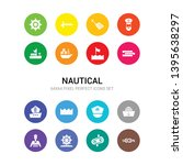 16 nautical vector icons set... | Shutterstock .eps vector #1395638297