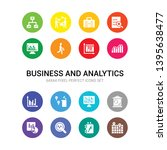 16 business and analytics...   Shutterstock .eps vector #1395638477