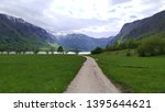 mountain view in voje valley ... | Shutterstock . vector #1395644621