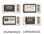 cinema tickets realistic vector ... | Shutterstock .eps vector #1395654101