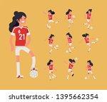 girls football team member... | Shutterstock .eps vector #1395662354