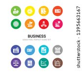 16 business vector icons set... | Shutterstock .eps vector #1395663167