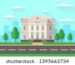 bank building. government house ... | Shutterstock .eps vector #1395663734