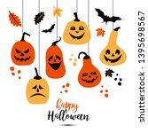 halloween background of... | Shutterstock .eps vector #1395698567