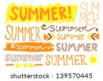 summer hand drawing typography | Shutterstock .eps vector #139570445