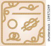collection of rope templates...   Shutterstock .eps vector #139571249