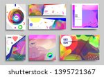 modern abstract covers set.... | Shutterstock .eps vector #1395721367