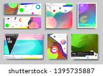 modern abstract covers set.... | Shutterstock .eps vector #1395735887