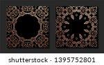 decorative mandala. golden...   Shutterstock .eps vector #1395752801