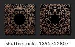 decorative mandala. golden...   Shutterstock .eps vector #1395752807